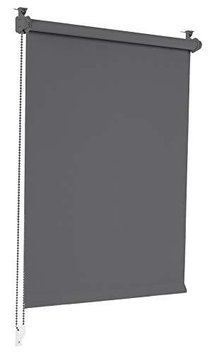 Sonello Verdunkelungsrollo Klemmfix ohne Bohren 50cm x 130cm Grau Verdunklungsrollo Fensterrollo Rollo Seitenzugrollo Klemmrollo für Fenster & Tür