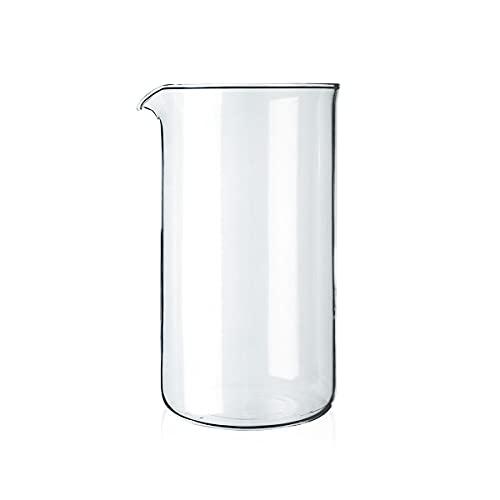 Bodum 1508-10 Ersatzglas zu Kaffeebereiter 8 Tassen, 1.0 l, ø 9.6 cm durchmesser,Durchsichtig