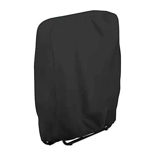 Klappstühle Schutzhülle Gartenstühle Abdeckung UV-Beständig Winddicht für Gartenmöbel Deckchair Liegestuhl Klappbar, Inklusive Oxford Tragetasche (Schwarz)