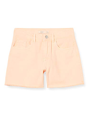 NAME IT Mädchen NKFRANDI MOM TWIIZZA Camp Shorts, Peach Nectar, 128