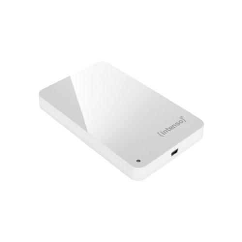 Intenso Memory Station 750GB externe Festplatte (6,4 cm (2,5 Zoll), USB-Y Anschluss) weiß
