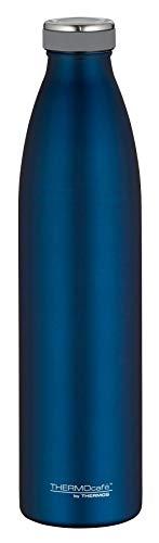 ThermoCafé Thermosflasche TC Bottle 1L, Trinkflasche kohlensäurefest, Edelstahlflasche blau, Isolierflasche auslaufsicher, Wasserflasche 4067.259.100, Thermoskanne 12 Stunden heiß, 24 Stunden kalt