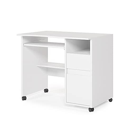 Vicco Schreibtisch Arbeitstisch Computertisch Polo auf Rollen Schubladen Ablagen