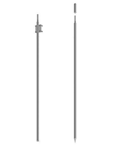 Tiefenerder Erder Erdung Staberder Ø16 Zusammensetzung 3m feuerverzink nach DIN 50164-2