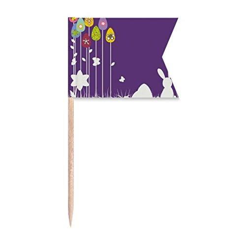 Ostern Festival lila Schmetterling Zahnstocher Flaggen Markierung für Party Kuchen Lebensmittel Käseplatte