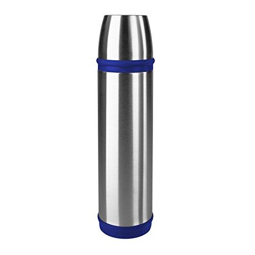 Emsa 502473 Isolierflasche (Mobil genießen, 700 ml, Schraubverschluss, Captain) blau