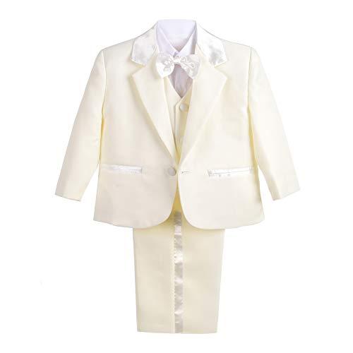 Lito Angels Baby Jungen 5 Teiliges Formale Smoking Anzug Anlass Kleidung 12-18 Monate Elfenbein