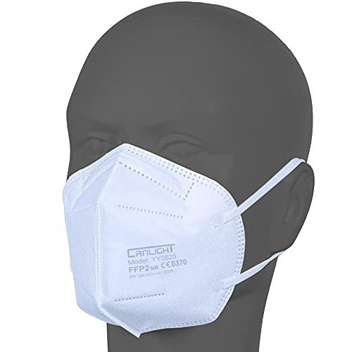 AUPROTEC 50 Stück FFP2 Maske Atemschutzmaske EU CE 0370 Zertifiziert EN149:2001+A1:2009 Mundschutz 5 lagig mit innen liegendem Vlies einzeln verpackt