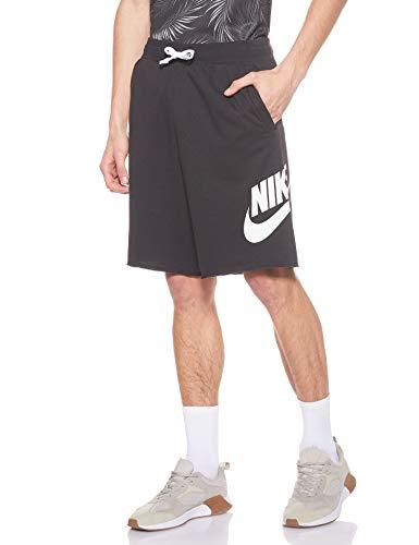 Nike Herren M NSW HE Short FT Alumni Sport, Black/Black/White/(White), M