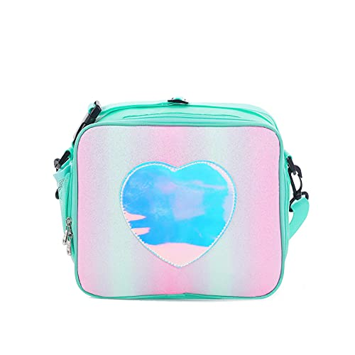 Rubyu-123 Lunchtasche für Jungen Mädchen, Kinder Kühltasche, Tragbare Große Thermo Lunchbox Lunchtasche, mit Schulterriemen und Reißverschlusstasche für Schule Picknick Lunch Reisen