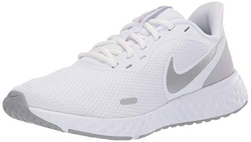 Nike Damen Revolution 5 Laufschuhe, White Wolf Grey Pure Platinum, 35.5 EU