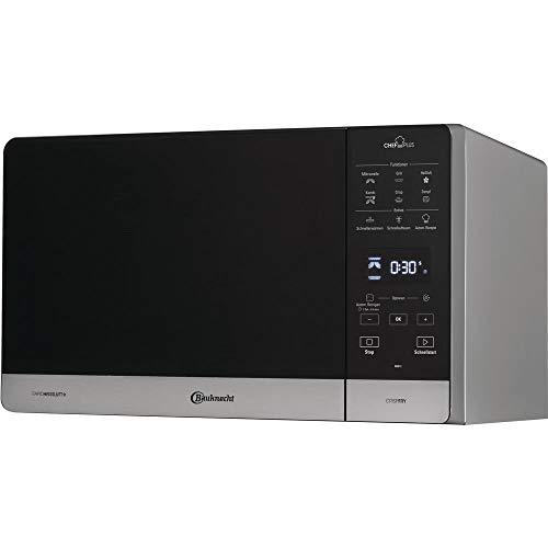 Bauknecht Chef Plus MW 49 SL/ 5in1-Multifunktionsmikrowelle / 800 W/25 L Garraum/Heißluft 1700 W/ Quartz Grill 900 W/ DualCrisp & CrispFry/ Dampfgaren/ AutoClean/ Schmelz- und Schnellauftau-Funktion