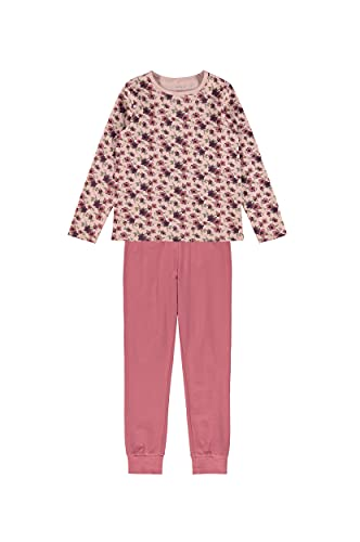 NAME IT Mädchen NKFNIGHTSET LS Deco Rose Flower NOOS Pyjamaset, 110-116