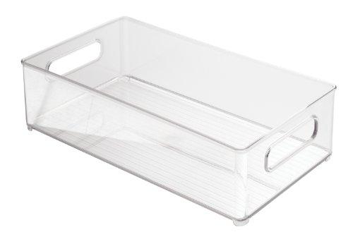 InterDesign Fridge/Freeze Binz Kühlschrankbox, stapelbarer Aufbewahrungsbehälter aus Kunststoff, durchsichtig