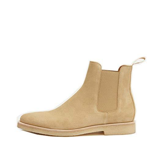 New Republic | Sonoma Chelsea Boots für Herren mit Kreppsohle, Beige (hautfarben), 44 EU