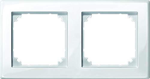 Merten 478219 M-SMART-Rahmen, 2fach, polarweiß glänzend