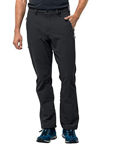 Jack Wolfskin Herren Jack Wolfskin Activate Xt Men-1503752 elastische Softshellhose, Black, 27