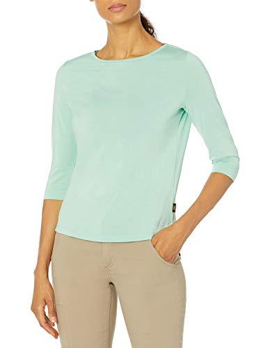Jack Wolfskin Damen Jwp 3/4 T-Shirt, Pacific Green, M