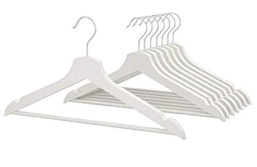 IKEA Bumerang 702.385.41 Kleiderbügel aus Holz 16er Pack Weiß