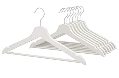 IKEA Bumerang 702.385.41 Kleiderbügel aus Holz, 24 Stück, weiß