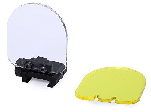 DETECH Anblick-Bereich Objektiv Bildschirm Abdeckung 4mm Faltbare Schild Tactical Transparent Kugelsichere Objektivschutz Für Airsoft Ziel Sport