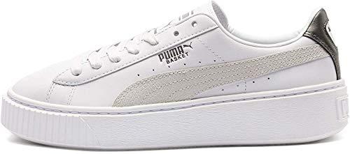 PUMA Basket Platform Euphoria Metal Damen Sneaker Puma Black-Puma Aged Silver 4.5