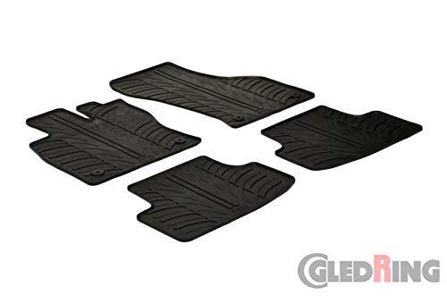 Gledring Satz Gummimatten Volkswagen Golf Sportsvan 2014- (T Profil 4-teilig + Montage-clips)