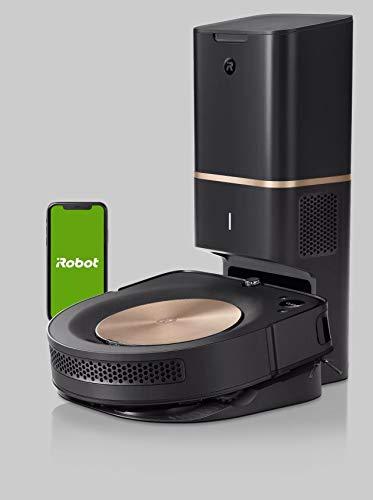 iRobot Roomba s9+ Über WLAN verbundener Saugroboter mit automatischer Absaugstation - PerfectEdge®-Technologie mit Eckenbürste und breiteren Gummibürsten für alle Böden - Leistungsverstärkung