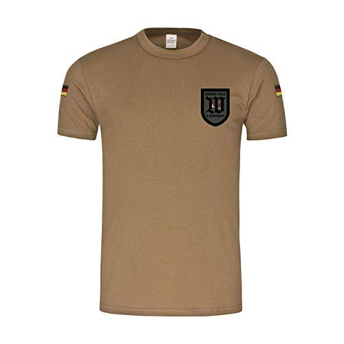 BW Tropen 2 WachBtl Kompanie Wachbataillon Bundeswehr Wappen T-Shirt#32221, Größe:M, Farbe:Khaki