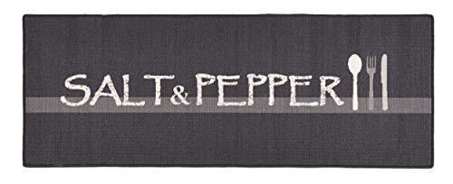 Hanse Home Küchenläufer Salt & Pepper Grau Creme, 67x180 cm