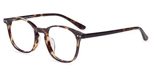 Firmoo Blaulichtfilter Brille ohne Sehstärke Damen, Entspiegelte Computer Brille Anti Augenmüdigkeit, Blaulicht Schutzbrille gegen Kopfschmerzen, UV Blaufilter Brille für Bildschirme