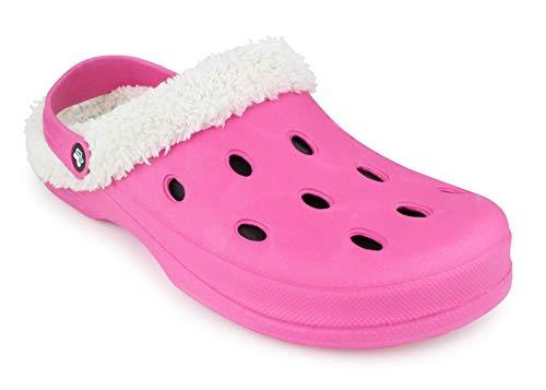 Romika Grizzly 11401 Clog, Größe: 38 EU, Farbe: Pink, Hausschuhe, Wärme-Pantoffeln, Clogs, Schlappen, männer, frauen, winterhaussschuhe, lammfellhausschuhe, fellhaussschuhe, gefüttert, warm