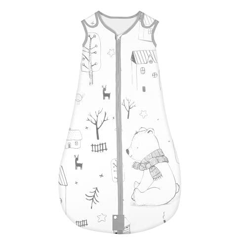 Yoofoss Schlafsack 100% Baumwolle Baby Schlafsack 80x45cm Wald-Muster Babyschlafsack Neugeborene im 6-18 Monaten
