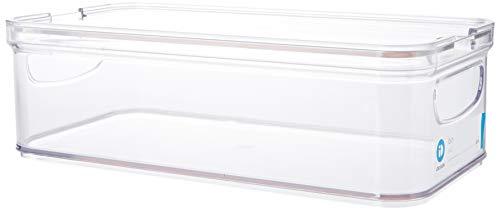 iDesign Frischhaltebox für den Kühlschrank oder Küchenschrank, stapelbare Aufbewahrungsbox aus Kunststoff, Vorratsbehälter für Obst, Gemüse, Käse usw., durchsichtig