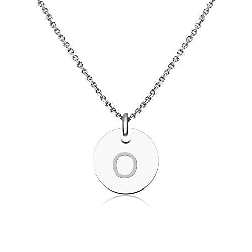 Good.Designs ® Initialen Halskette Frauen Mädchen mit Gravur O Olga Olivia Ole Oliver Oskar Otto