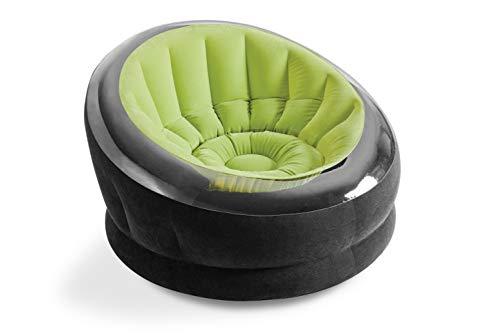 Intex Empire Chair Aufblasmöbel - Aufblasbarer Sessel - 112 x 109 x 69 cm - Farblich Sortiert