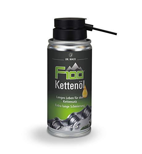 Dr. Wack - F100 Kettenöl – Spray 100 ml I Premium Fahrrad Kettenöl für weniger Reibung & Verschleiß I Kettenöl für alle Fahrräder I Hochwertige Fahrradpflege – Made in Germany