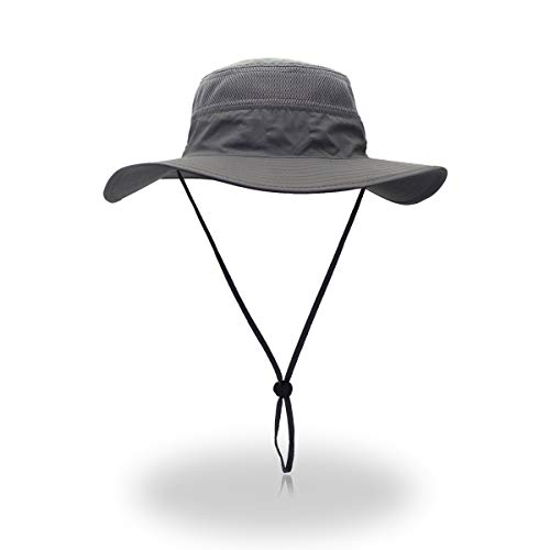 EONPOW Sonnenhut Herren Damen UV Schutz Sonnenschutz Kopf Faltbar Wanderhut Gartenhut Boonie Fischerhut