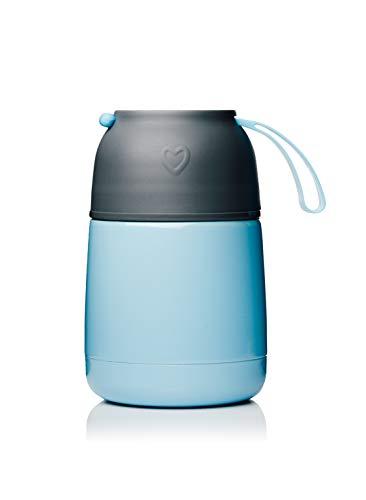 BOHORIA® Thermobehälter Lunchbox   Hochwertiger Isolierbehälter   Edelstahl   Thermo Gefäß für Babynahrung   Premium Speisebehälter   Warmhaltebox (Blau)