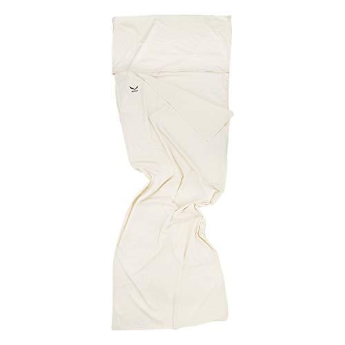 SALEWA Erwachsene Schlafsack Cotton-Feel Liner Silverized L, Weiß, 210 x 75 x 75 cm