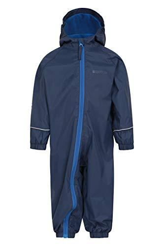 Mountain Warehouse Spright Bedruckter Regenanzug - Atmungsaktiv, Gefüttert, Wasserfest, versiegelte Nähte Anzug, Fleecefutter - Für Jungen und Mädchen, Frühling Marineblau 24-36 Monate