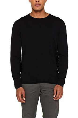 edc by ESPRIT Herren 997CC2I800 Pullover, 001/BLACK, Large