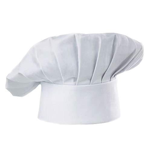 Ogquaton Chef Hut Einstellbare elastische Bäcker Küche Kochen hohen Hut Set für Home Küche Essen Restaurants Weiß Chef Hüte für Erwachsene Neu Freigegeben