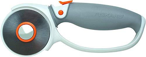 Fiskars Titan-Rollmesser, Ø 60 mm, Für Rechts- und Linkshänder, Orange/Weiß/Grau, 1004753