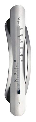 TFA Dostmann Analoges Innen-Außen-Thermometer, wetterfest, aus Aluminium