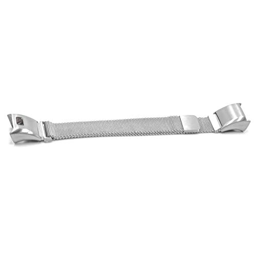 vhbw Ersatz Armband passend für Garmin Vivosmart HR Fitness Uhr, Smart Watch - Edelstahl Silber Magnetverschluss