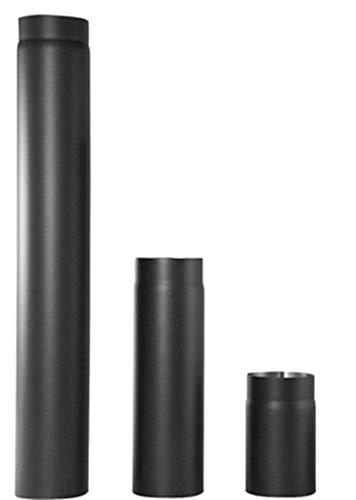 rg-vertrieb Ofenrohr Rauchrohr Kaminrohr Stahlrohr Abgasrohr Senotherm Schwarz 2mm Heizung Abzugrohr wählbar (Ø 180mm x 500mm)