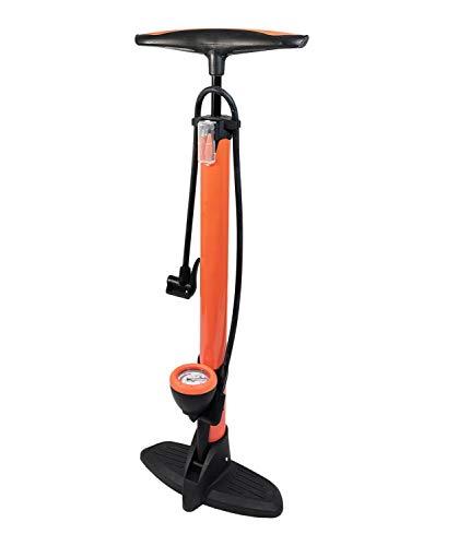 Red Loon Luftpumpe Hochdruck Metall Fahrradpumpe 11 bar Standpumpe Manometer alle Ventile