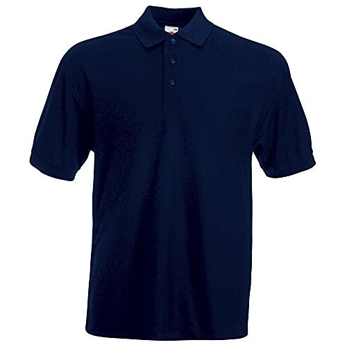 Fruit of the Loom Herren 65/35 Poloshirt, Blau-Blue (Deep Navy), L
