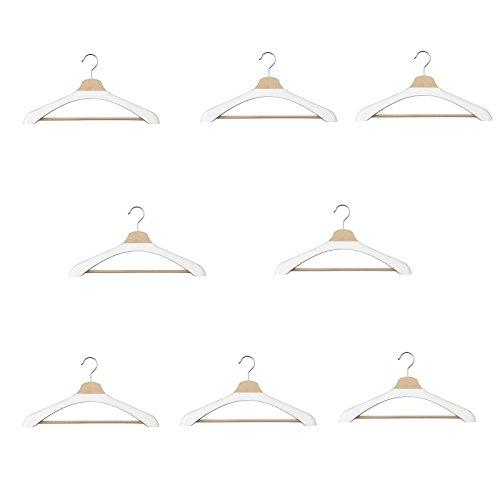 Ikea BUMERANG Kleiderbügelpolster in weiß; 8 Stück